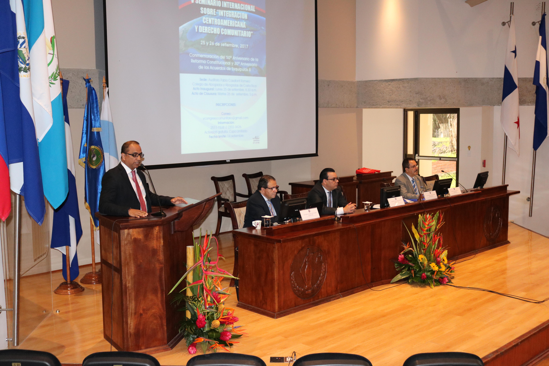 ICAP participó en el V Seminario Internacional Integración Centroamericana y Derecho Comunitario