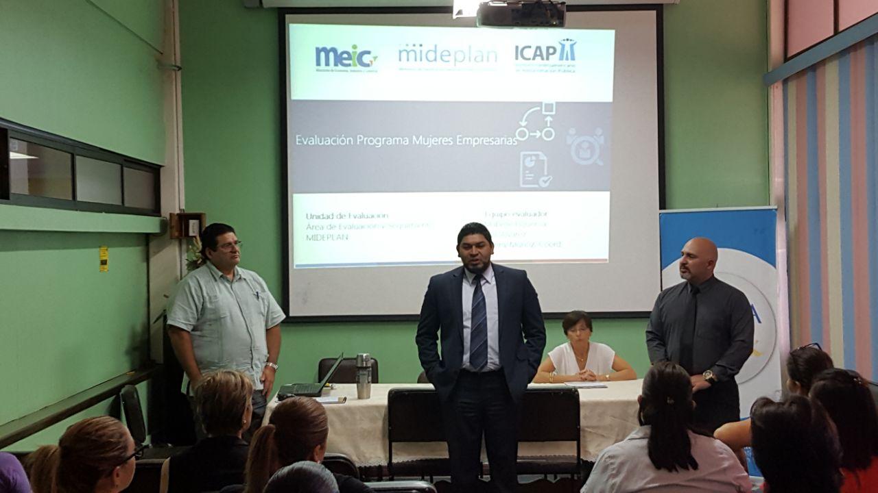 Beneficiarias del Programa Mujeres Empresarias del MEIC, evaluado por el ICAP, resaltan importancia de la coordinación interinstitucional