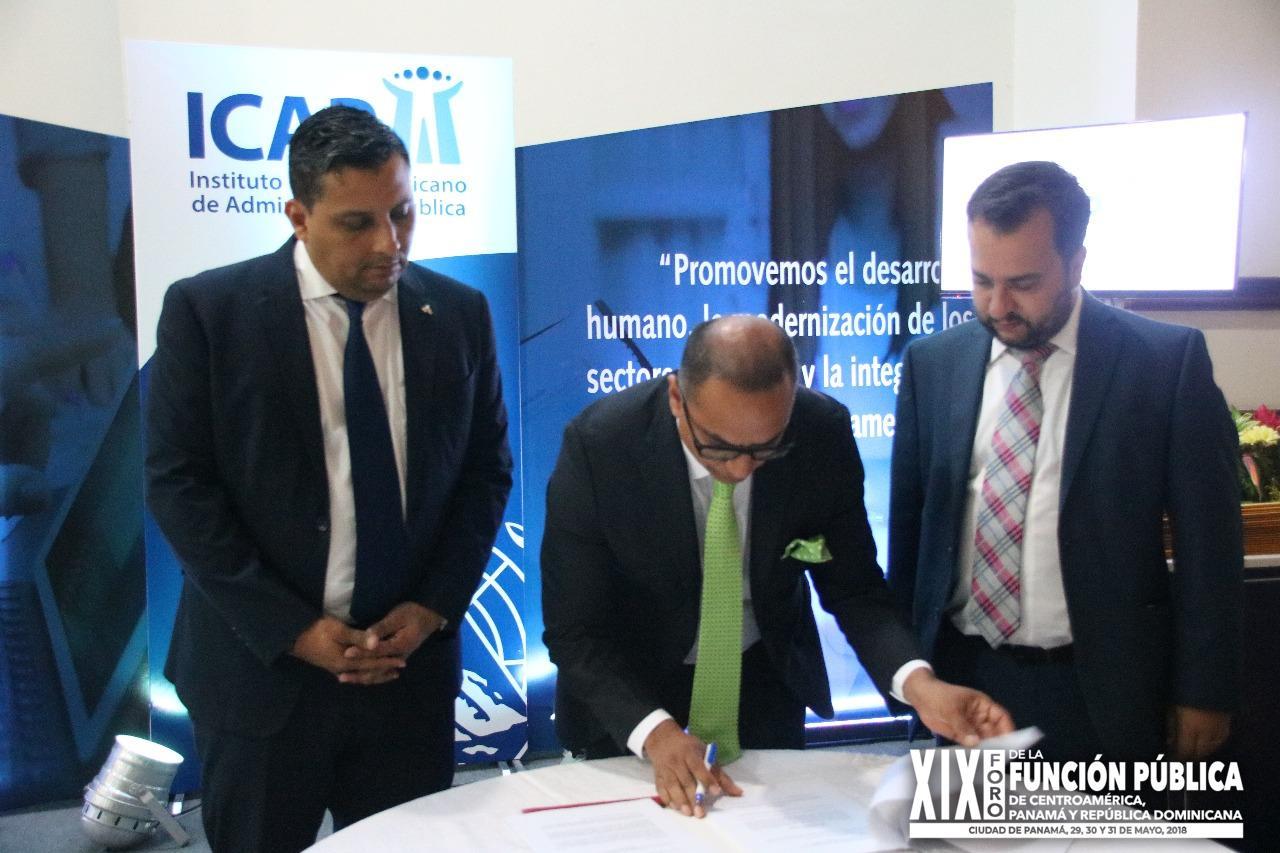 Firma de convenio de cooperación entre el Instituto Centroamericano de Administración Pública y Escuela de Administración Pública de Brasil