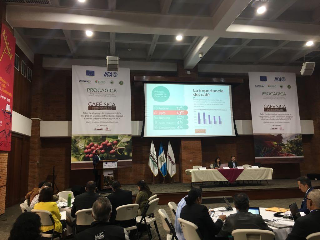 """El ICAP apoya y facilita el taller """"Café SICA: desarrollo intersectorial sostenible"""""""
