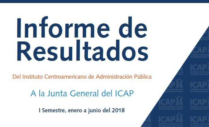 Desempeño del ICAP durante el primer semestre del 2018