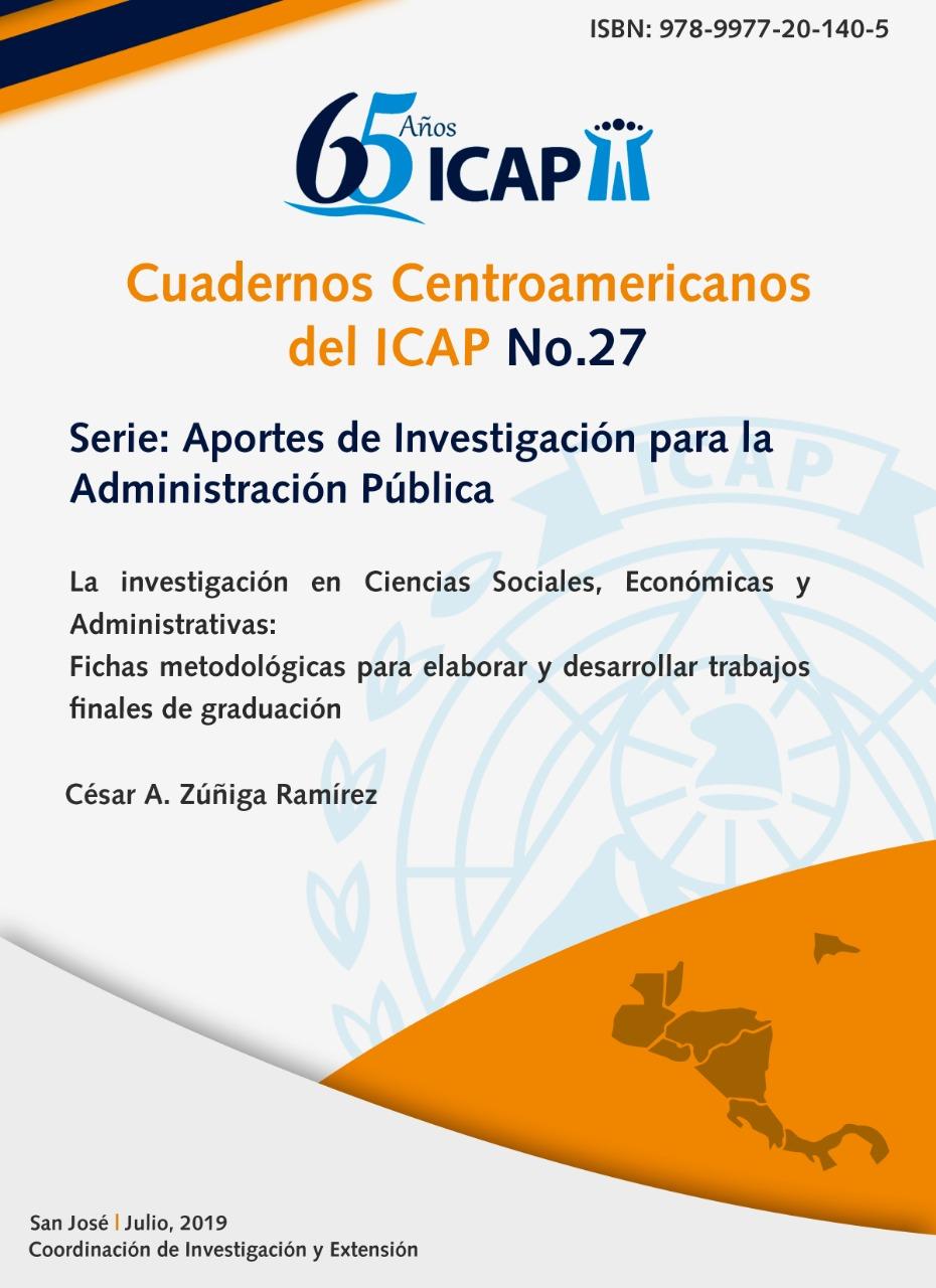 Cuaderno Centroamericano del ICAP N°27: Aportes de Investigación para la Administración Pública