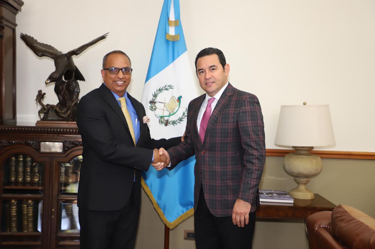 ICAP se reunió con Jimmy Morales, Presidente de la República de Guatemala