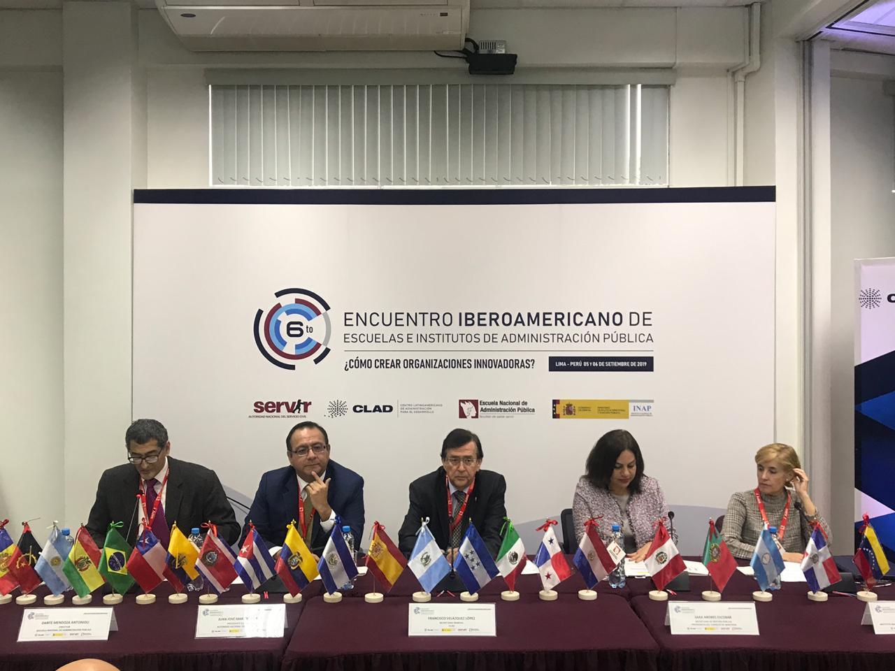 ICAP participa VI Encuentro Iberoamericana de Escuelas e Institutos de Administración Pública en Perú