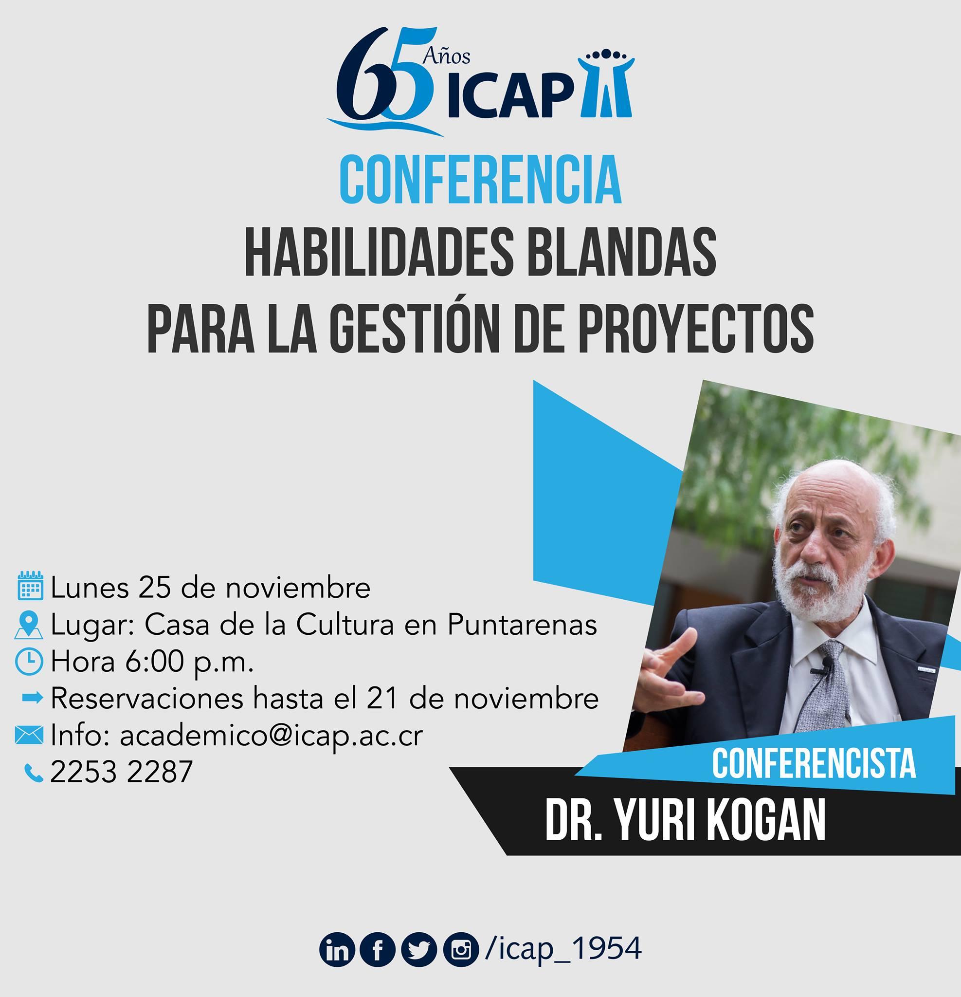 Se ofreció conferencia Habilidades Blandas para la Gestión de Proyectos en Puntarenas