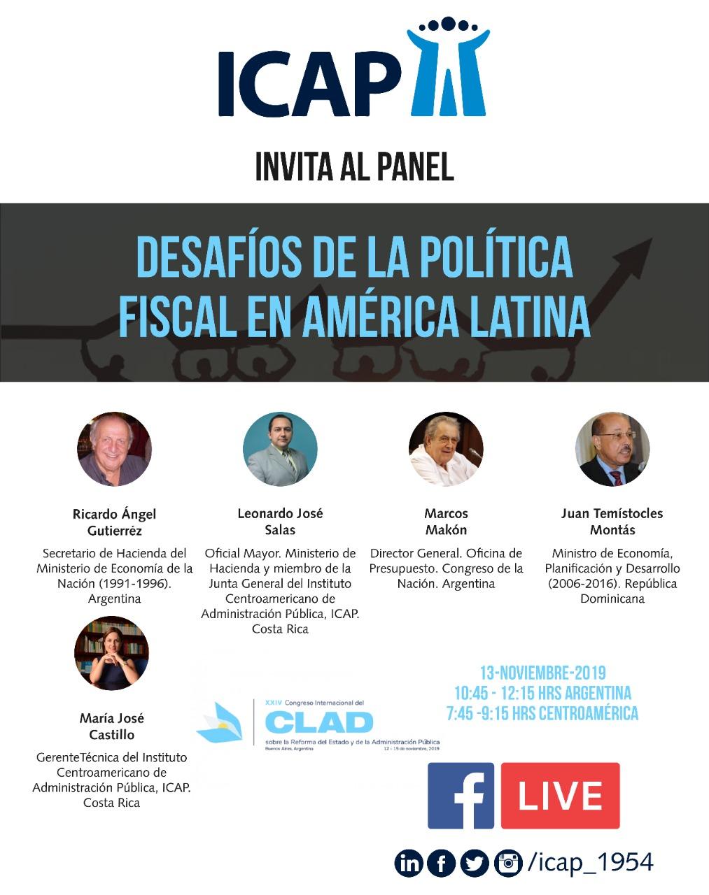 ICAP ofrecerá panel estratégico sobre política fiscal en el XXIV Congreso Internacional del CLAD