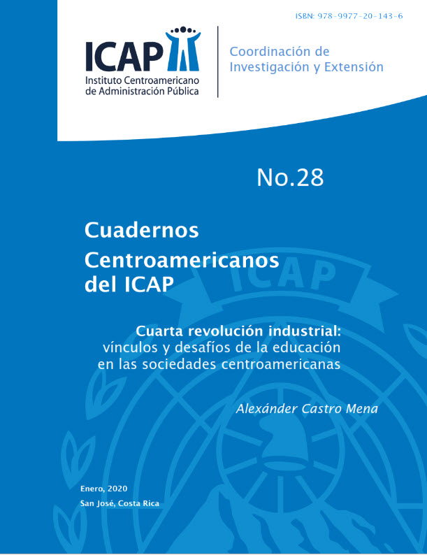 Cuaderno Centroamericano ICAP #28: Cuarta revolución industrial, vínculos y desafíos de la educación en las sociedades centroamericanas