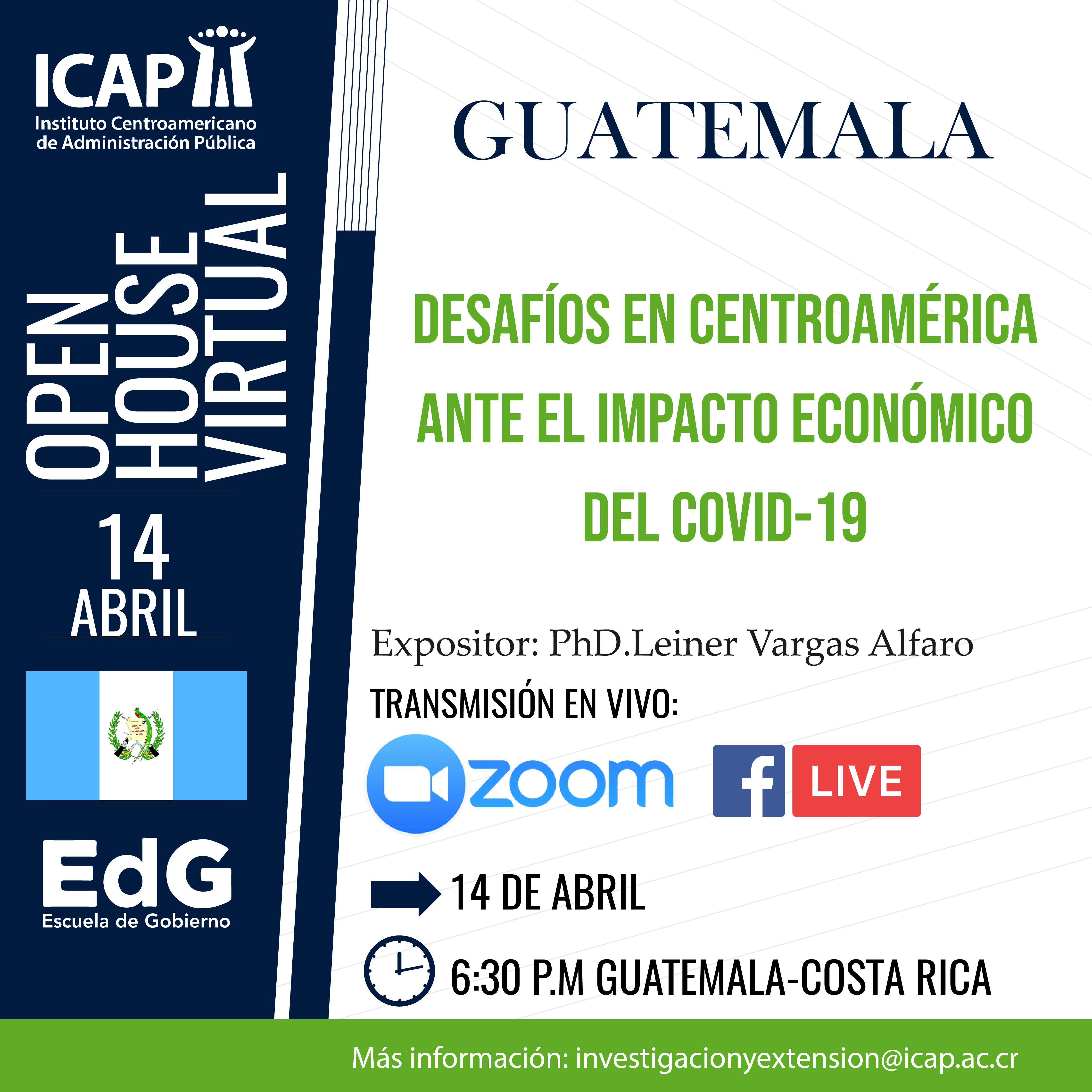 Open House Virtual: Desafíos en Centroamérica ante el impacto económico del COVID-19