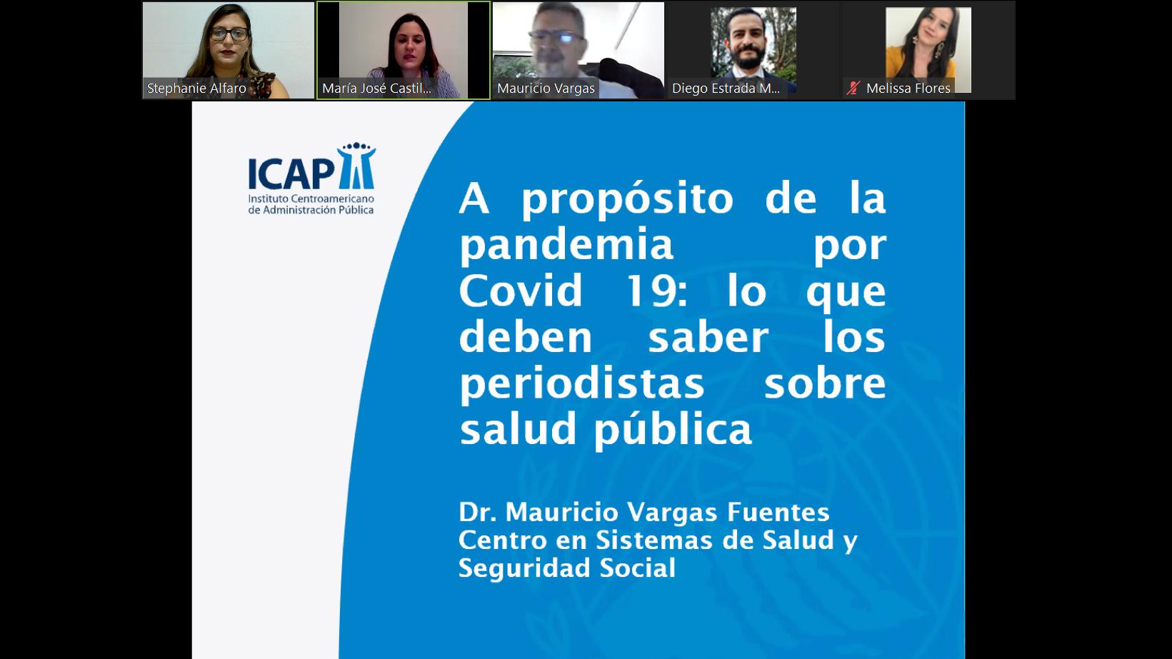 Conferencia: Lo que deben conocer los periodistas sobre salud pública