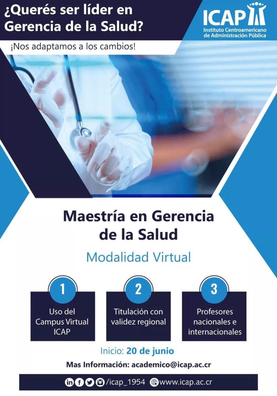 ICAP lanza maestría en Gerencia de la Salud, 100% virtual