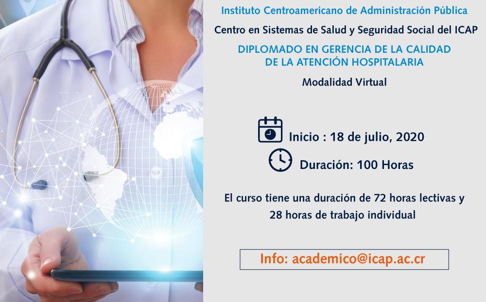 Diplomado en Gerencia de la Calidad de la Atención Hospitalaria en Costa Rica abre matrícula para segunda promoción.