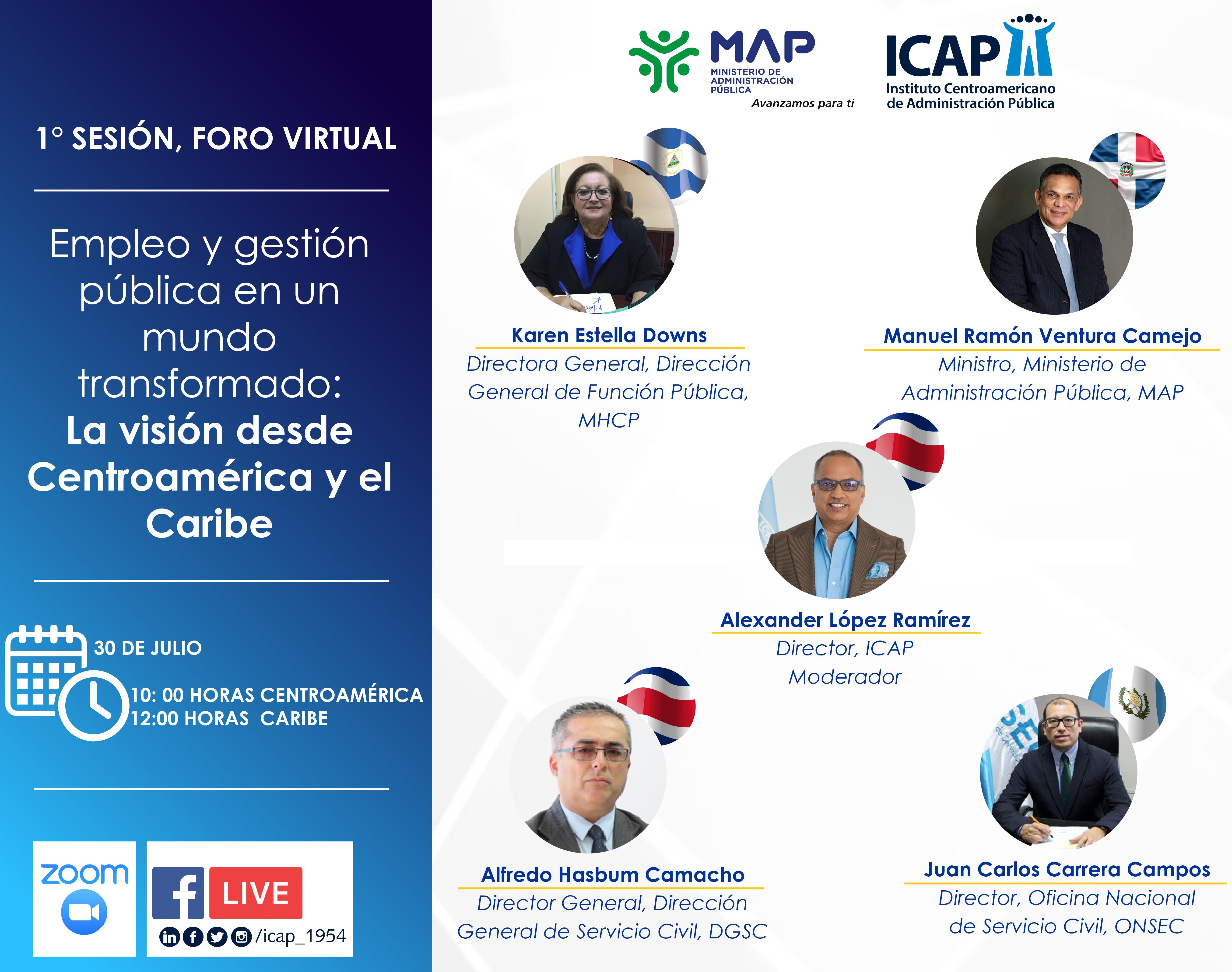 Súmese al foro virtual sobre empleo y gestión pública de Centroamérica y el Caribe