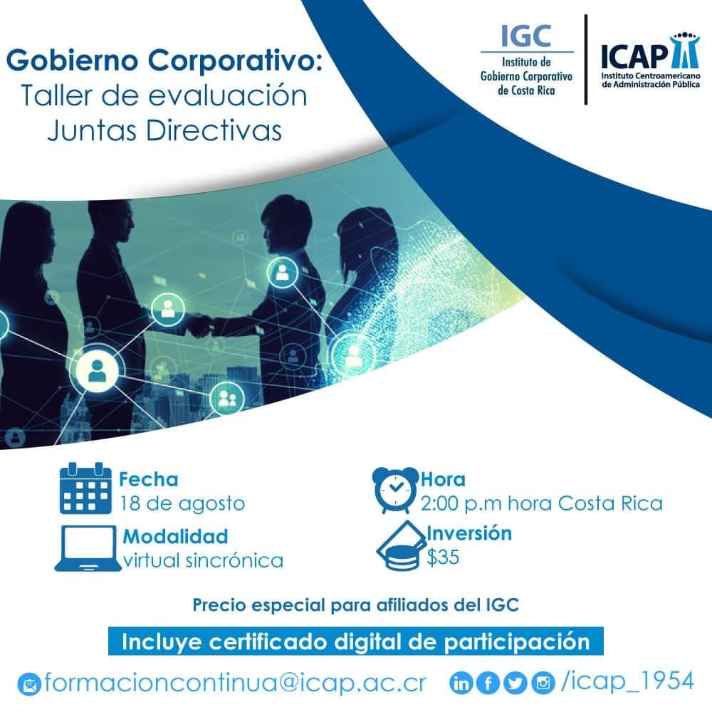 Gobierno Corporativo: Taller de evaluación Juntas Directivas