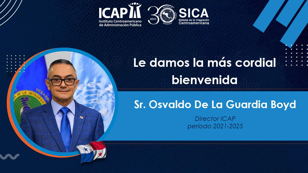 Osvaldo Adriano De la Guardia Boyd, designado, Director sustituto del ICAP